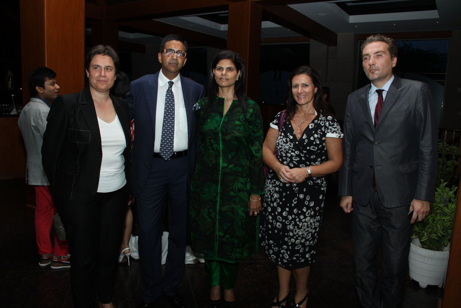 Mr. & Mrs. Gupta with Luana Carcao (professor from SDA Bocconi) ,Ms Erica Di Giovancarlo & Mr. Gianluca Brusco our chief guest from Italian Embassy.