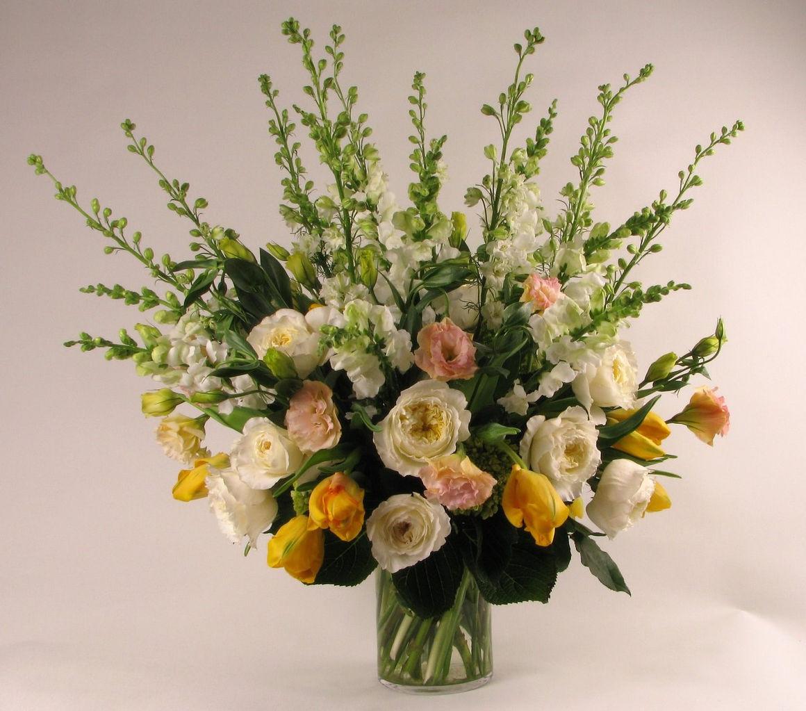 ct wedding floral design table