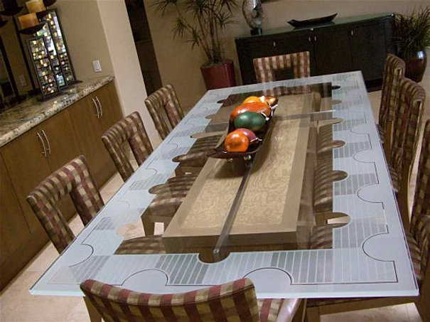 GLASS DINING TABLE NYC