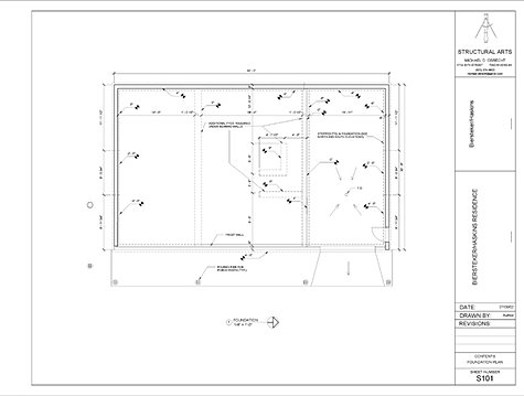 Bh foundation for Residential architectural drawings