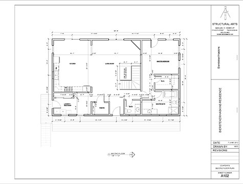Bh 2nd flr for Residential architectural drawings
