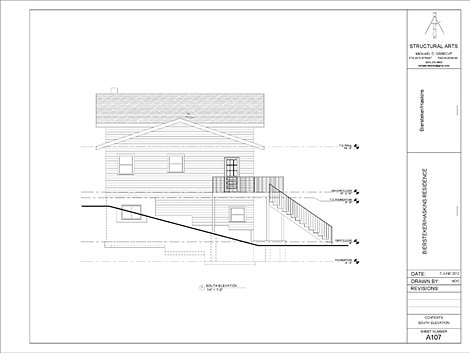 Michael obrecht architectural drawings residential for Residential architectural drawings