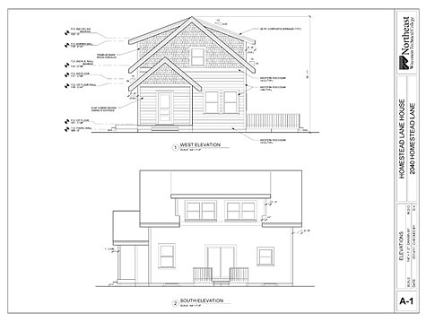 Hl elev for Residential architectural drawings