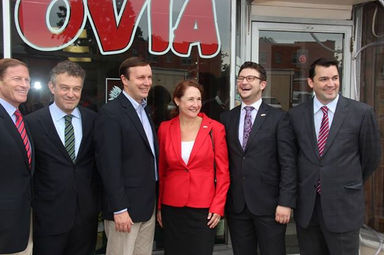 members of Congress Tour Little Poland with the Polish Ambassador