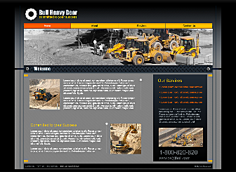 Construction Com Template - This professional looking Website is ideal to build a strong online presence. With simple navigation, easy to customize images and colors, and plenty of room for explanation of your personal and professional presence this Website is waiting to promote your business on the web