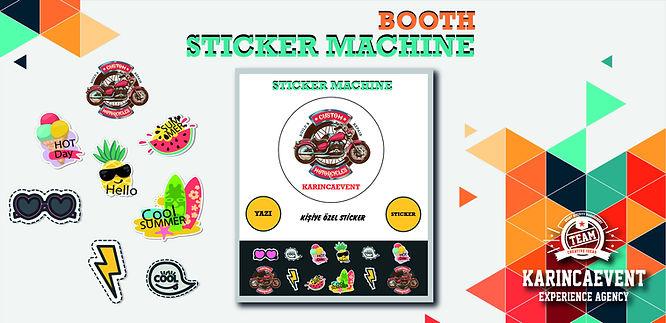 Sticker Machine Booth