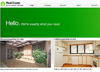 Green Properties Template - Create your own stunning free Website with this simple-to-use Flash template. Designed with your unique business needs in mind, this Modern template is the perfect stage to show off your personal and professional presence