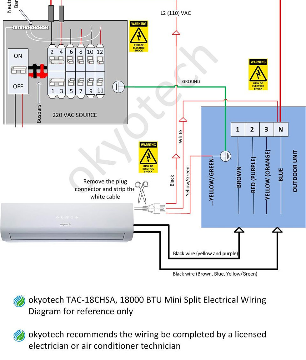 mini split wiring diagram