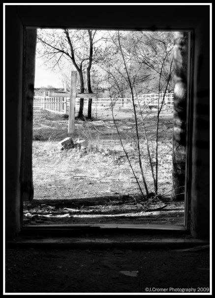 through the old church doors