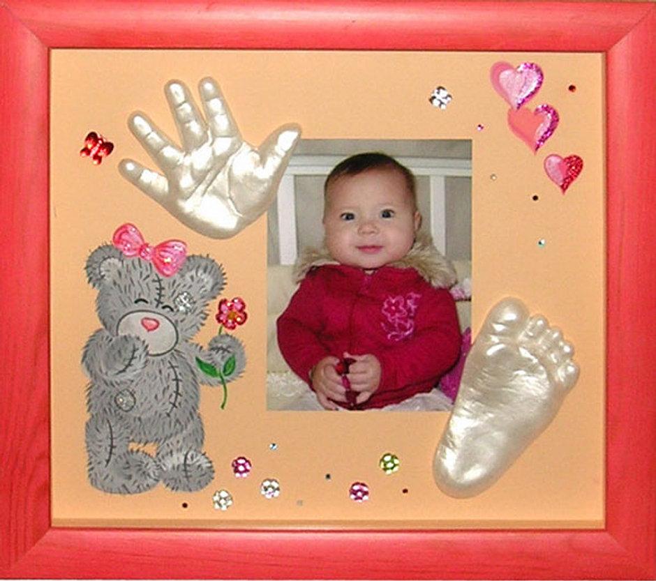 Детские отпечатки рук и ног своими руками