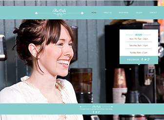 My Cafe Template - This quaint and classy template expresses the atmosphere of your café or restaurant. Add an elegant menu and upload photos to the gallery to entice culinary connoisseurs. Adjust the design and color palette to create a free website that sets your eatery apart.
