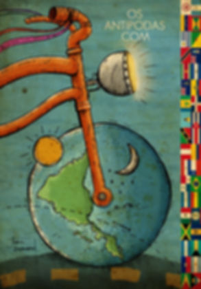 Logo Projeto Ciclos, Os Antípodas. Arte de Jhon Bermond