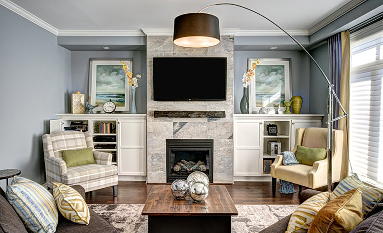 This home needed to be cozy and family friendly without for Laura boisvert design