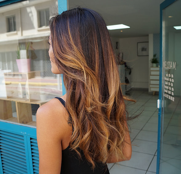 ombre hair montepellier cheveux longs balayage californien coiffeur coloriste montpellier melissa m - Coloriste Montpellier