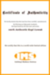 Certificate Kopi Luwak