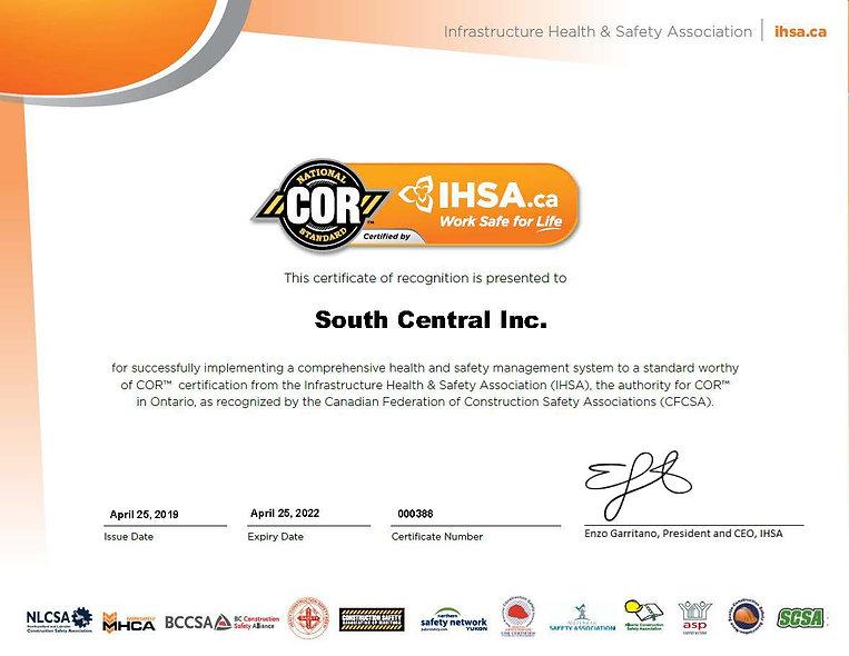 South Central Inc. (000388) - April 25 2