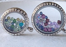 Swarovski Crystals in Lockets
