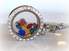 """Autism"" Themed Locket"