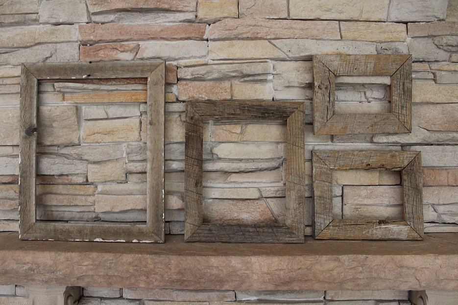 reclaimed rustic frames