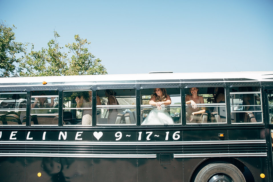 Jump On The School Bus Wedding Transportation Wine And Beer