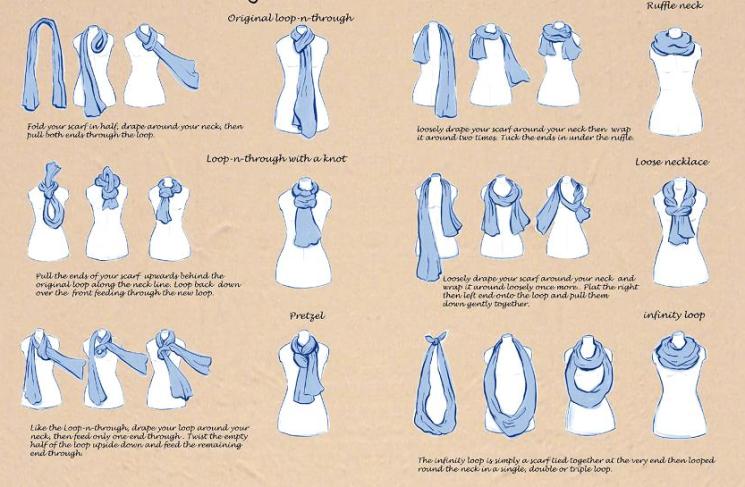 drab to fab 6 ways to wear a scarf my style diary rh mystylediary wixsite com Coldwater Creek Scarf Tying Scarf Tying Tutorial