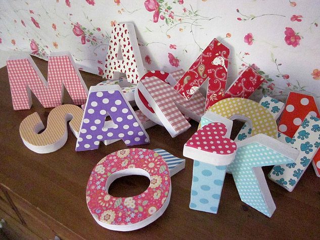 Letras decorativas letras con luces tus letras - Como hacer letras decorativas ...