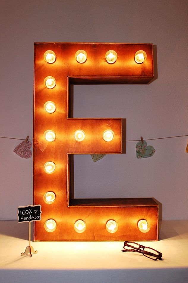 Letras decorativas letras con luces tus letras - Letras de madera decorativas ...