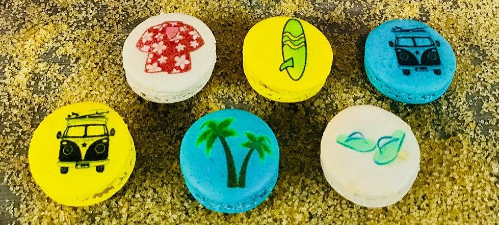 Hawaiian Printed macarons