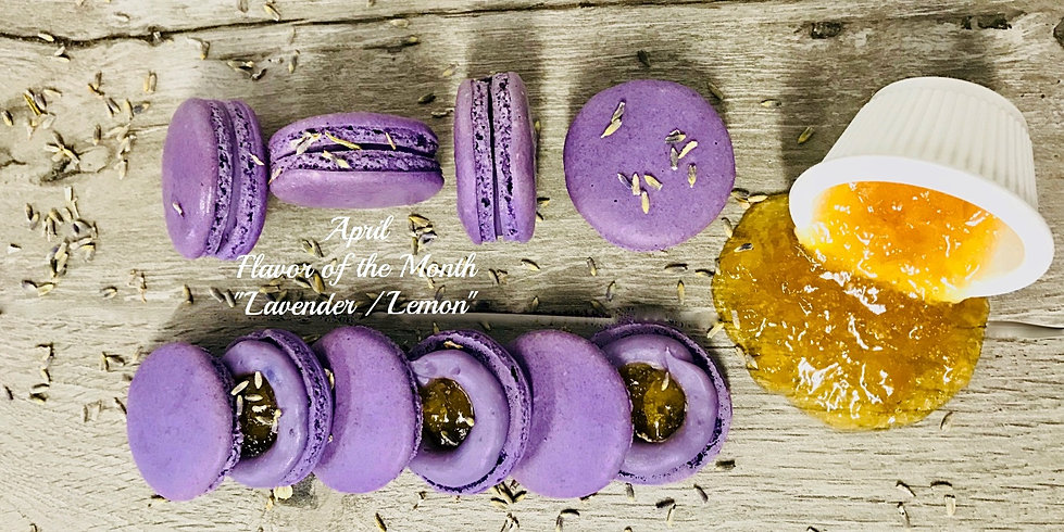 Lavender Lemon macaron - April flavor_edited