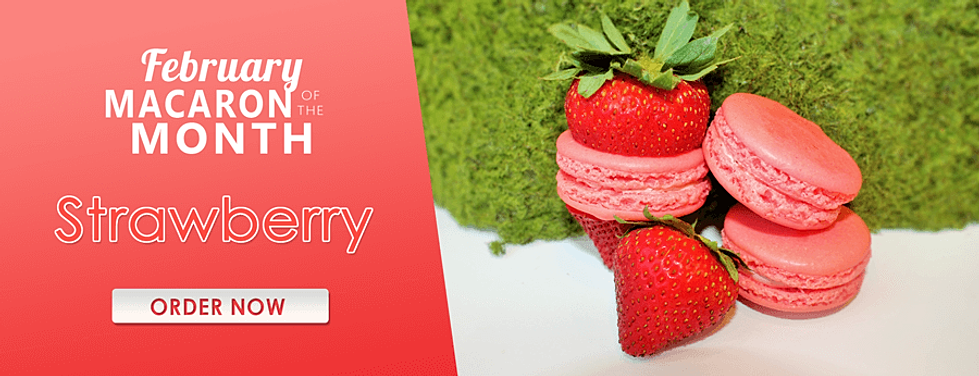 Strawberry Macaron of the Month