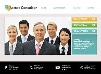 Asesor de negocios Template - Esta sofisticada plantilla web hará que tu empresa sobresalga. Promueve tus servicios y cultiva tu imagen profesional al agregar texto y hacer cambios al diseño. ¡Comienza a editar y lleva a tu empresa a otro nivel!