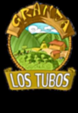 Este es el logotipo original de aceitunas granja los tubos, una empresa familiar dedicada a la manipulación, envasado y aliñado de too tipo de aceitunas y encuritdos