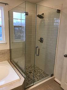 walk in glass shower