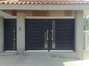 shining grand ouest le portail aluminium et de la porte de. Black Bedroom Furniture Sets. Home Design Ideas
