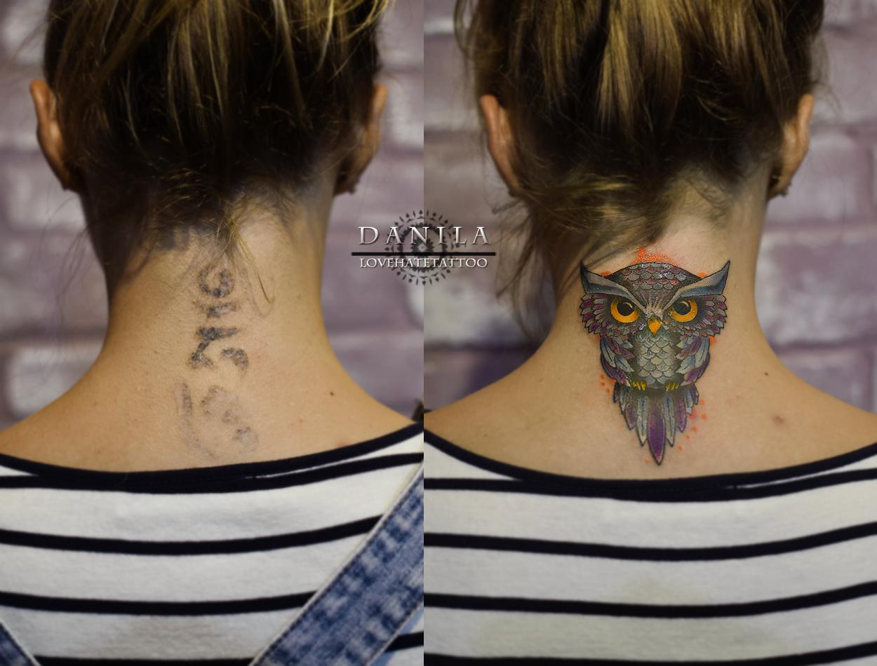 Фото татуировок на спине шее
