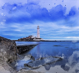 St Mary's lighthouse with blue water splash.jpg