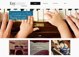 Music School Template - Reflect the tones of your academic institution with this warm and inspiring website template. With soft colors and an engaging gallery, this is the perfect template for anyone wishing to attract the attention of budding young students. Upload photos and edit the design to create a professional website which represents your academic establishment.