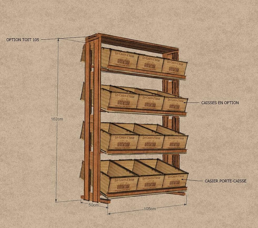 regal f r weinkisten les casiers d 39 antan. Black Bedroom Furniture Sets. Home Design Ideas