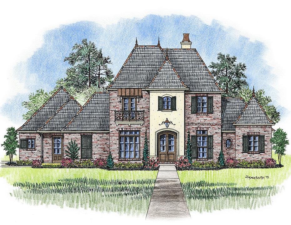 Madden home design french country house plans acadian for French acadian house plans