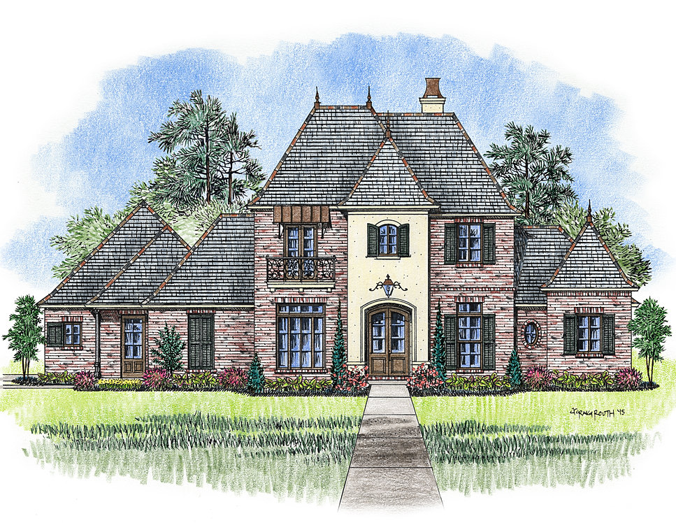 acadian home design. Total  4654 square feet Madden Home Design The Orleans