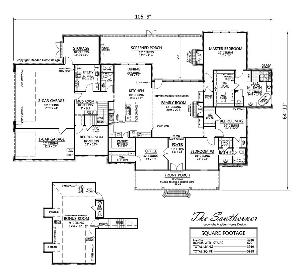 madden home design - the southerner