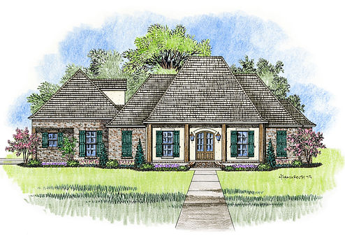 Madden Home Design   French Country house plans  Acadian house plansThe Ruston