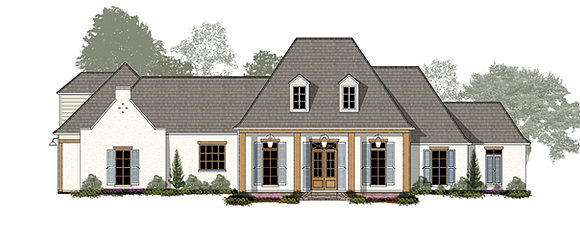 Jasmine Madden Home Design  French Country house plans Acadian