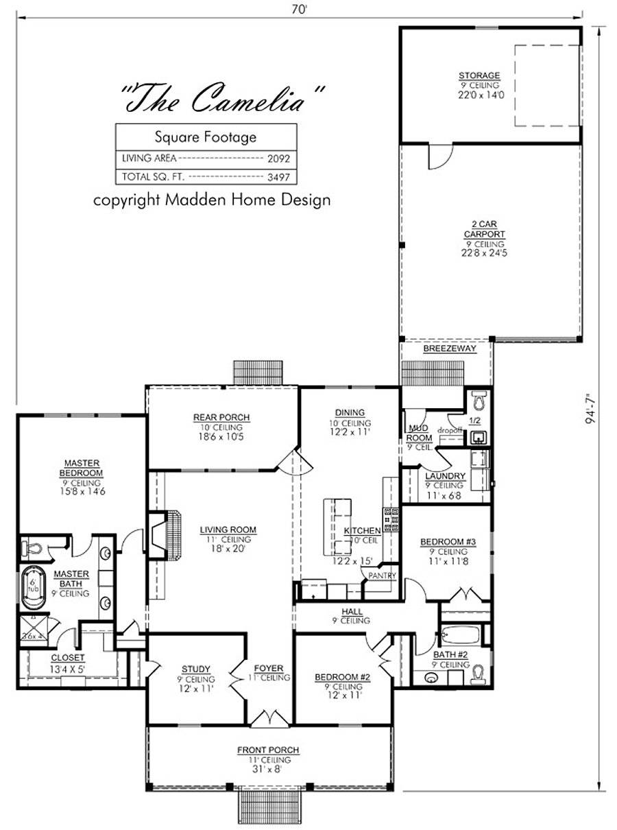 Madden home design the camelia for Madden house plans