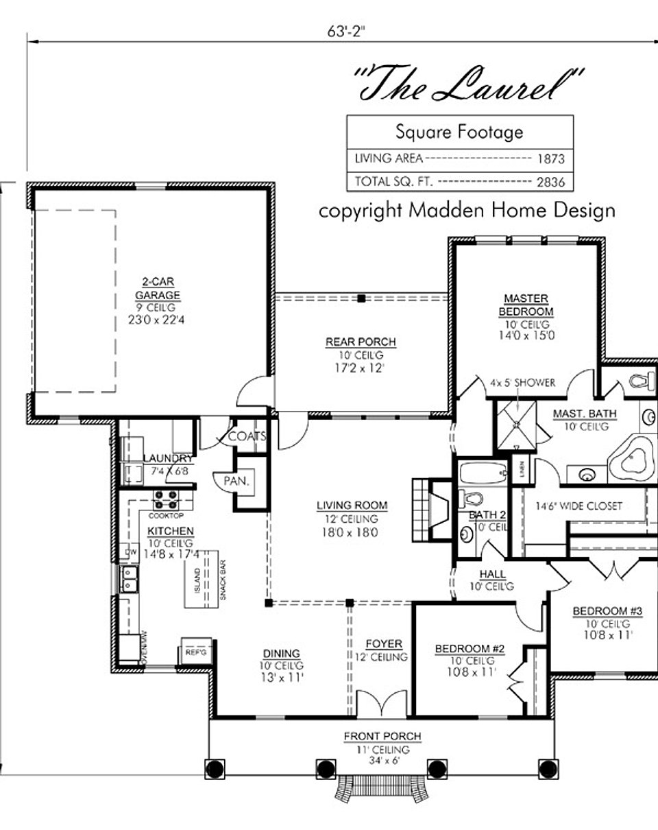 Madden home design the laurel for Madden house plans