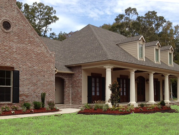 The plantation for Louisiana house plans