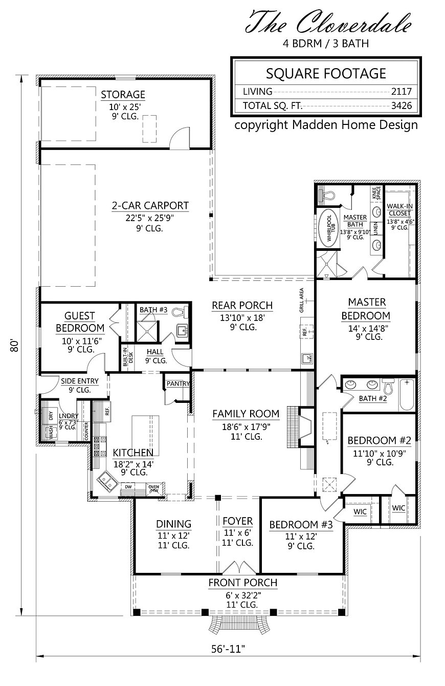 Madden home design the cloverdale for Madden house plans