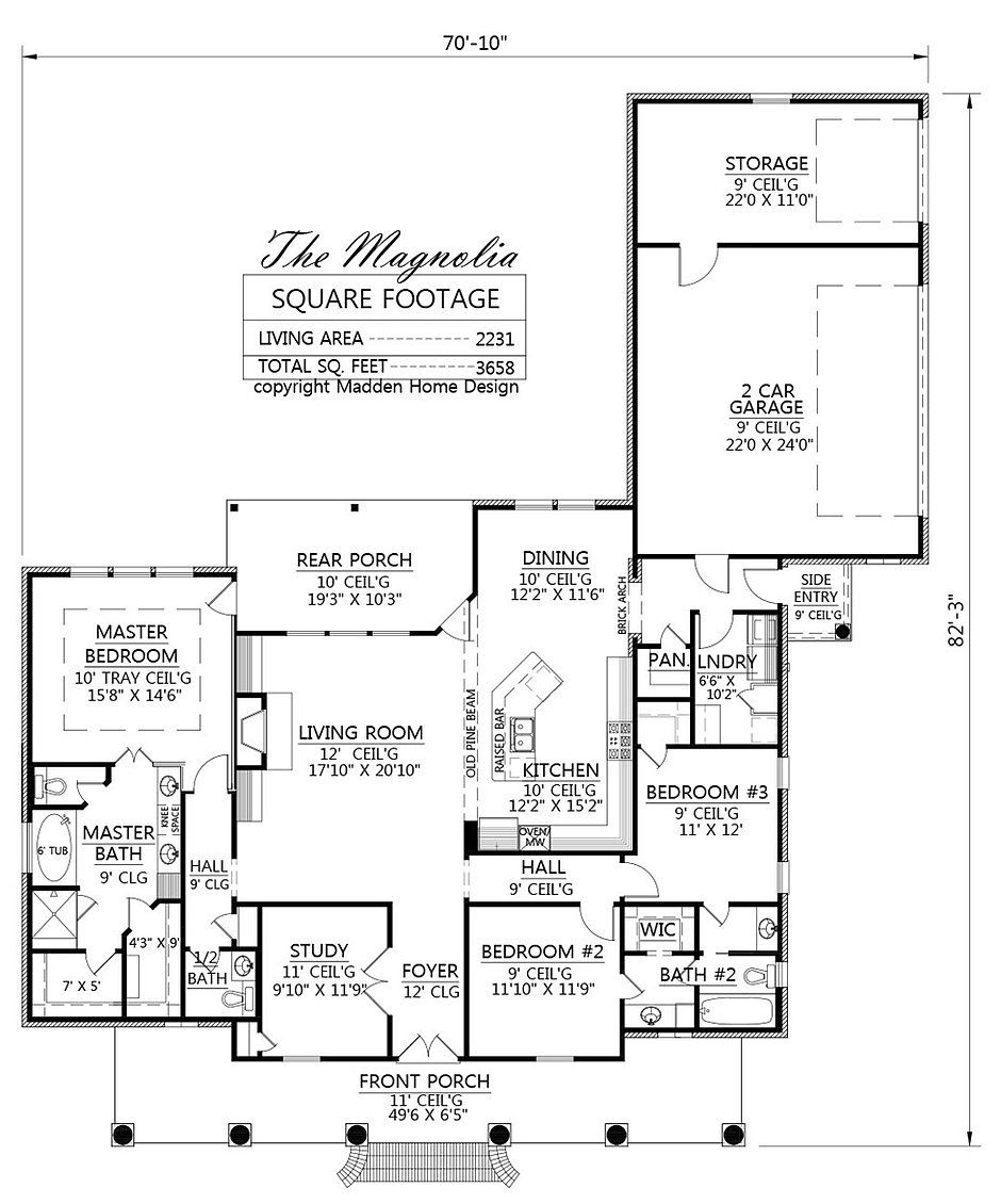 Magnolia homes floor plans madden home design the for Madden house plans