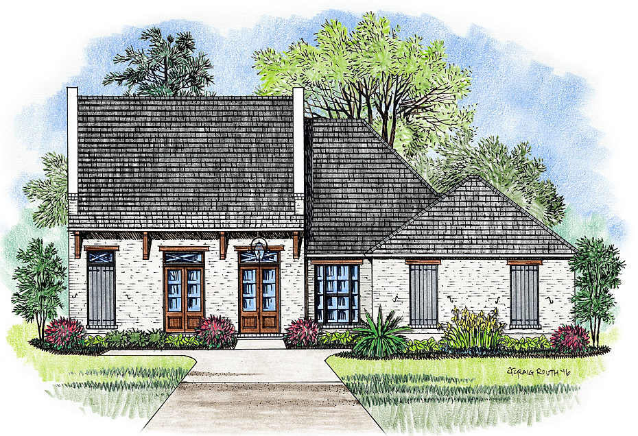 the augusta - French Country House Plans With Porte Cochere