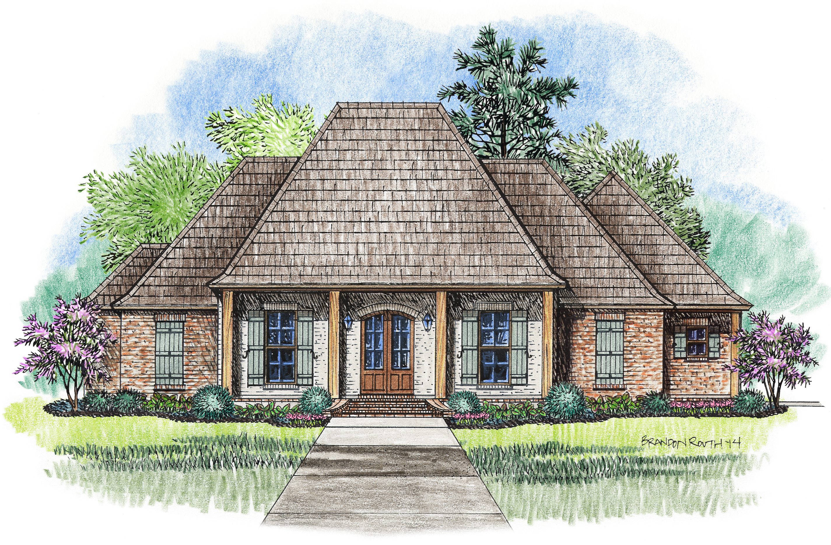 The Louisville Madden Home Design Acadian House Plans